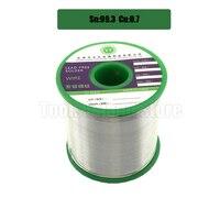 1000g Lead Free Solder Wire Health 99.3% Sn 0.7% Cu Tin Wire Melt Rosin Core Big Roll