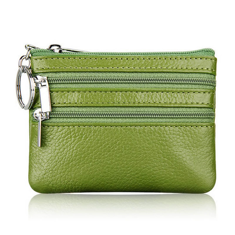 Fashion Ladies Soft Faux Leather Patchwork Zip Small Coin Purse Womens Wallet Ca