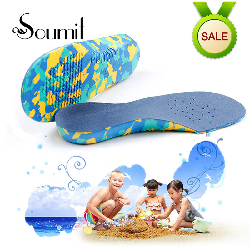 Soumit Children Kid Orthopedic Insoles EVA Flat Foot Arch Support Shoe Insole Relief Pain Orthotic Sport Shoes Palmilha Pad