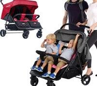 Четыре колеса коляски коляска для малышей близнецов ребенок хорошо мальчик Твин коляски