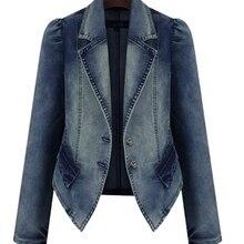 Plus Size 2016 New Fashion Female Slim Fit Casual Cotton Denim Celeb Bomber Jean Jackets Women Oversized Basic Outerwear Coats