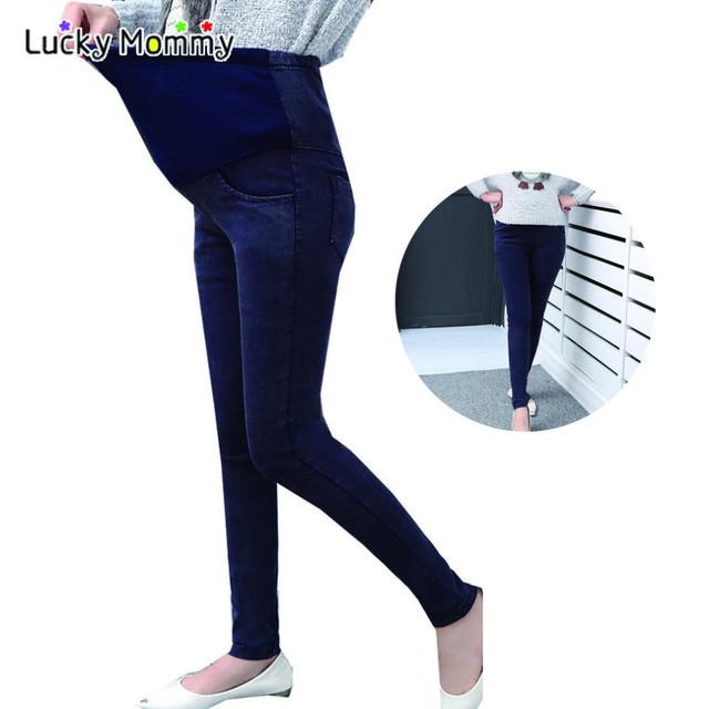 Plus Size Jeans Skinny Calças Barriga Cuidados de Maternidade para As Mulheres Grávidas Maternidade Trouers para A Gravidez Roupas Grávidas 2017 Novo