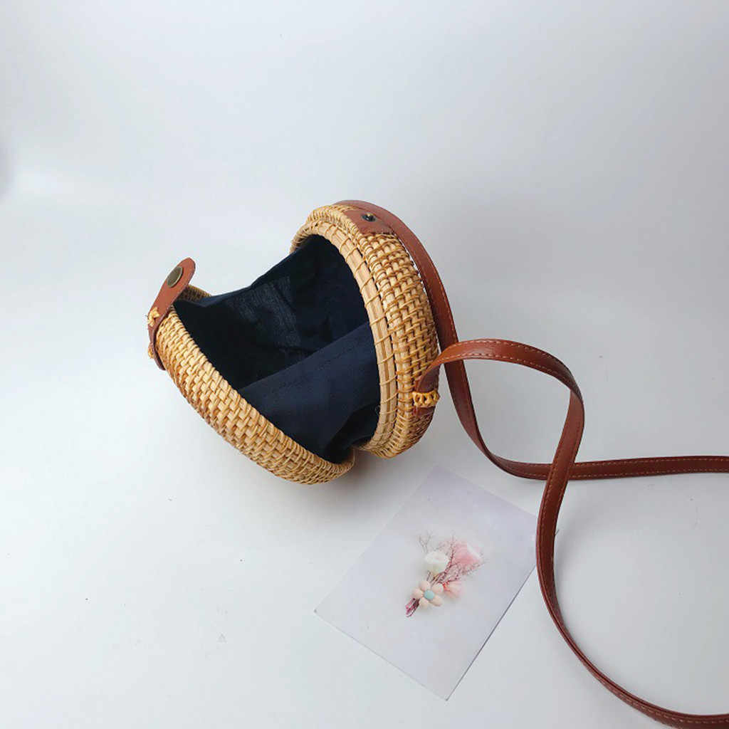 2019 Round Mulit Style Straw Bag Handbags Women Summer Rattan Bag Bucket Straws Magnetic Snap Bags Bolso de mano Handbag #89