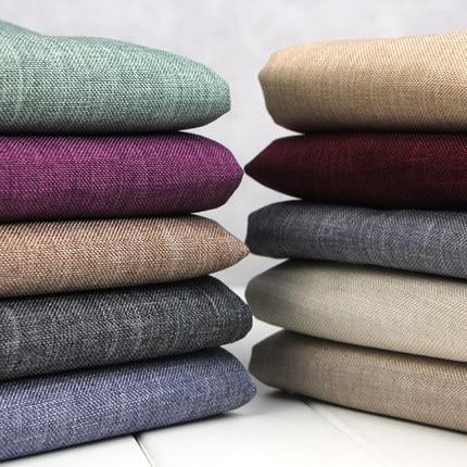 effen kleur linnen stof pure katoenen canvas stof linnen gordijn