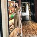 2019 женская летняя обувь стиль с рукавом 1/2, для вечеринок Элегантные платья повседневные платья vestidos