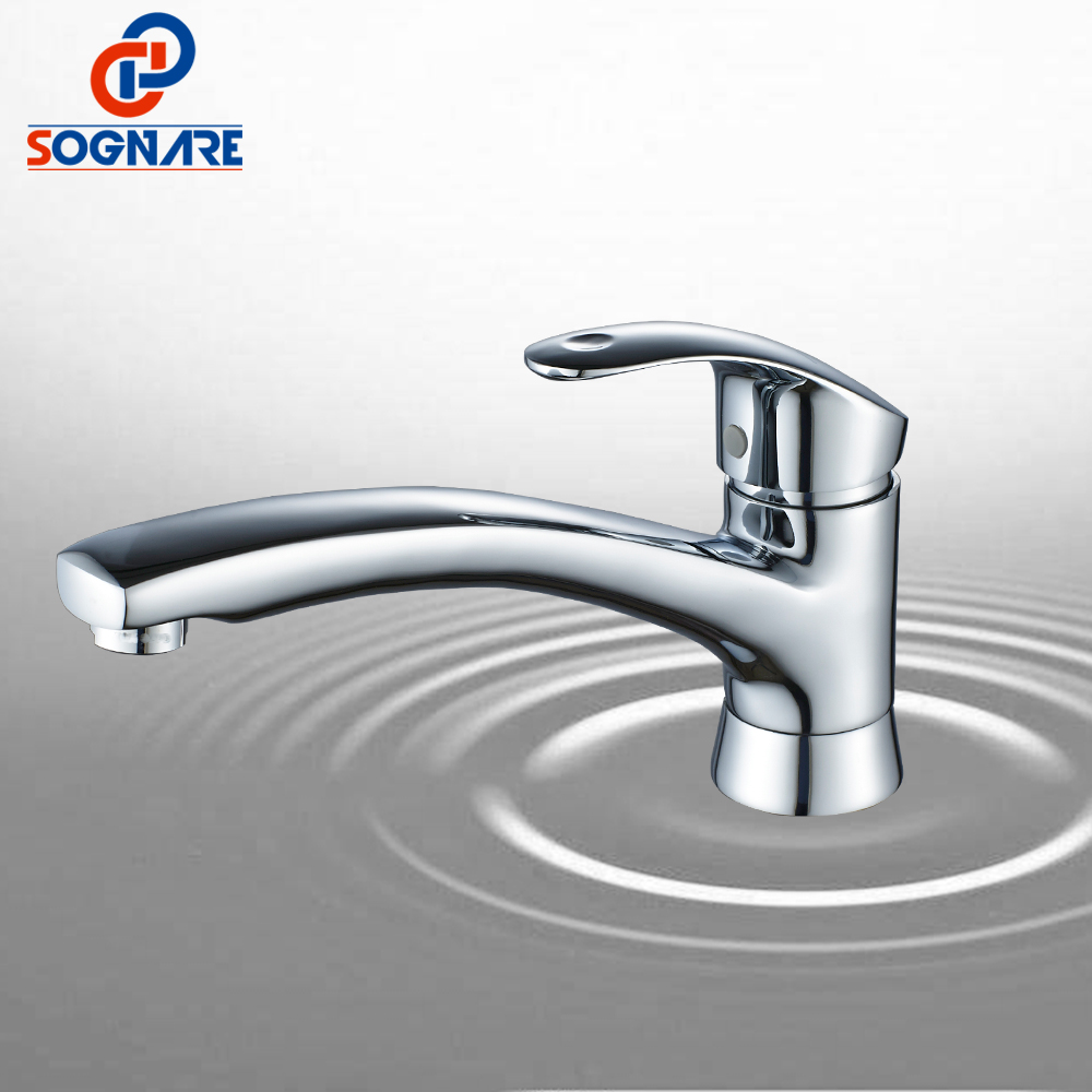 SOGNARE Solid Brass Chrome Hot and Cold Water Kitchen Faucet Swivel Crane 360 Degree Rotation torneira cozinha Mixer Tap D2136 frap new white black flexible kitchen sink faucet brass 360 degree rotation torneira cozinha water tap mixer kitchen goods f4042