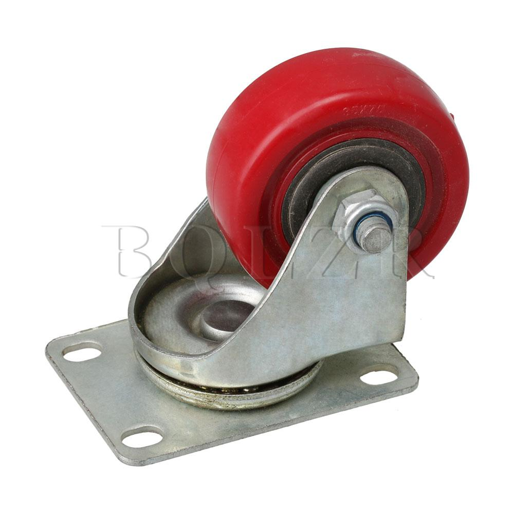 BQLZR 9.4x6.4x9.6cm Red 3 inch Rotate Casters for Flatbed Trucks Hand Trucks Warehouse Trucks & Various Tool CarsBQLZR 9.4x6.4x9.6cm Red 3 inch Rotate Casters for Flatbed Trucks Hand Trucks Warehouse Trucks & Various Tool Cars
