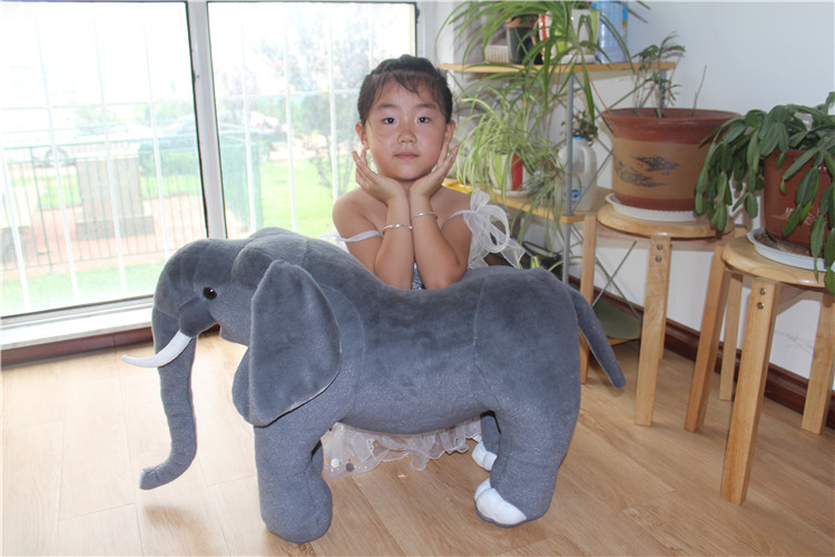 middle size lovely plush simulation elephant toy creative gray elephant doll gift about 70cm big creative plush elephant toy lovely stuffed jungle elephant gift doll about 80cm