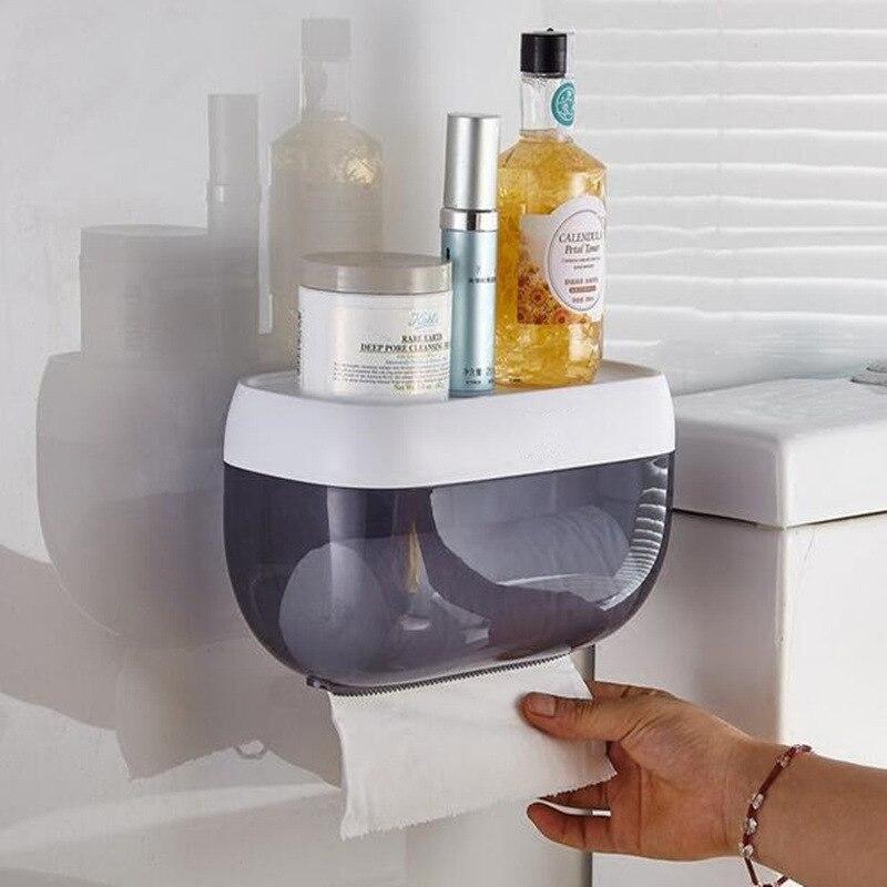 Waterproof Multi-functional wall-mounted toilet paper holders Tissue Box rolling paper towel rack bathroom accessories стоимость