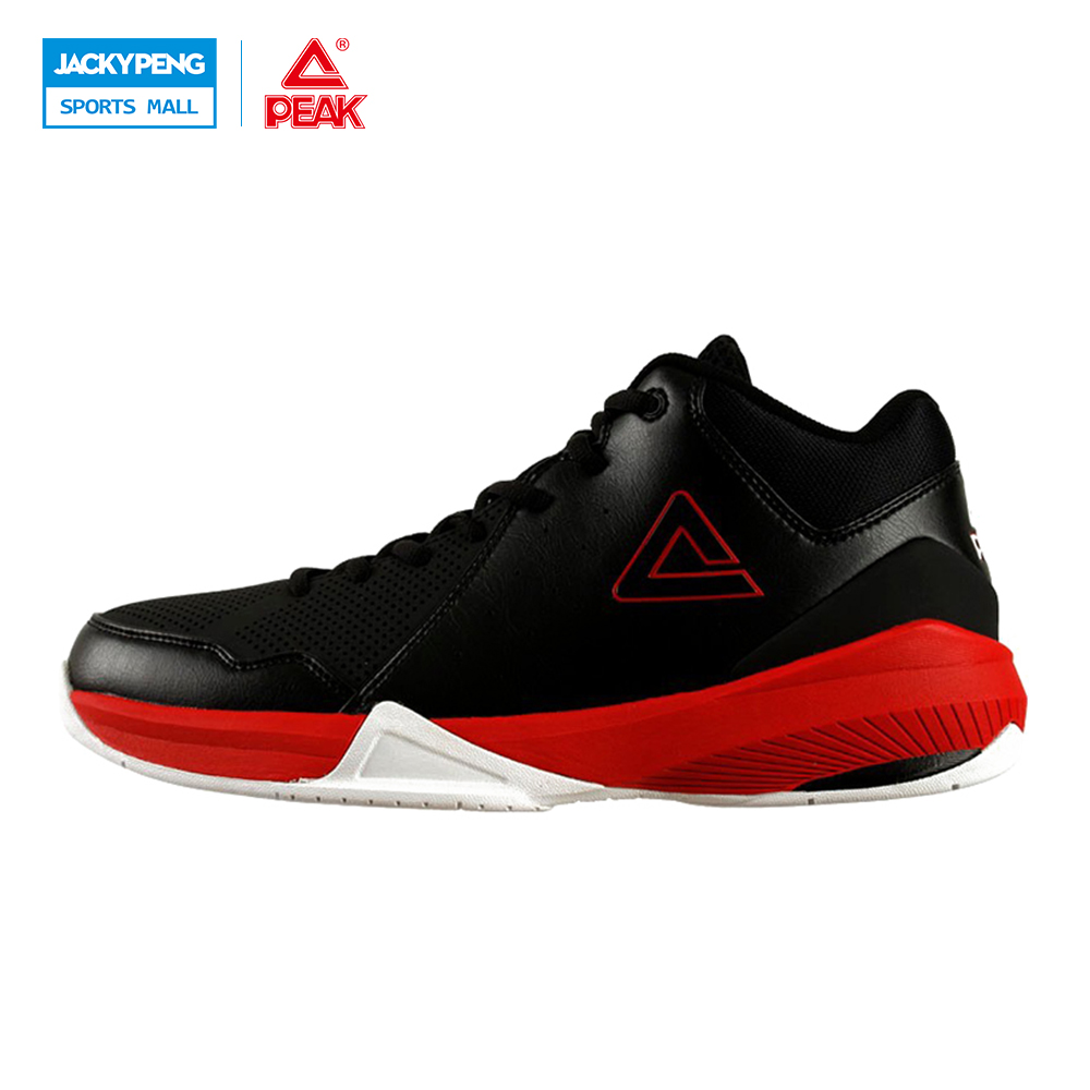 PEAK SPORT New Men Basketball Shoe High-Top Durable Rubber Outsole Ankle Boot Breathable Athletic Training Sneaker Size EUR40-47 peak sport monster ii men basketball shoes foothold tech sneakers breathable training athletic durable rubber outsole boots