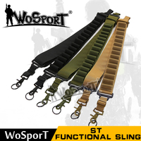 WoSporT Tactical Functional Sling CS Safety Nylon Webbing Steel Mental Buckle Outdoor Military Sling with Bullet Clip SL 13