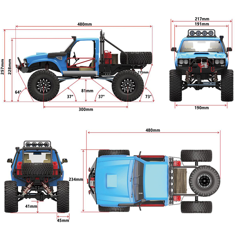 Image 3 - RC Truck 4WD SUV Drit Bike Buggy Pickup Truck Remote Control Vehicles Off Road 2.4G Rock Crawler Electronic Toys Kids Gift-in RC Cars from Toys & Hobbies