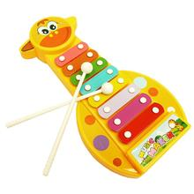 Popular Cartoon Animal Pattern Kid Baby toys Music Instrument 8-Note Xylophone Wooden Toy Educational instrumentos musicais