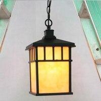 Китайский простой квадратный алюминия люстра Открытый влагостойкие люстра вилла области сад Хон освещения ZL524