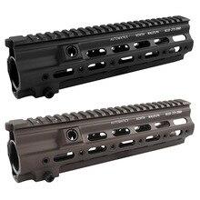 Heißer Verkauf 9,7 zoll 14 zoll Picatinny schiene System Super Modulare Schiene Handschutz Schiene Für HK MR556 HK416 Airsoft