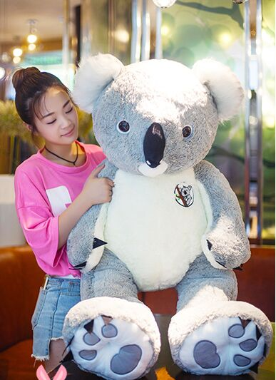 stuffed plush toy large 120cm gray koala doll plush toy throw pillow Christmas gift b0269 stuffed animal 40cm gray koala bear plush toy soft mother