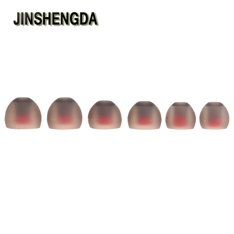 JINSHENGDA Universal Earbuds 3 Pairs (S/M/L) Soft Silicone In Ear Tips Earbuds  Silicone Eartips For KZ ED10 ED8m Ear Pads