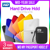 Western Digital My Passport hdd 2.5 USB 3.0 SATA Portable HDD Storage Memory Devices External Hard Drive Disk 1TB 2TB 4TB
