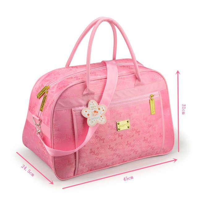 82204450f Women Waterproof Travel Duffel Bag Hello Kitty Cat Cartoon Handbags Weekend  Trip Crossbody Tote High Capacity Luggage Bags Pink-in Top-Handle Bags from  ...