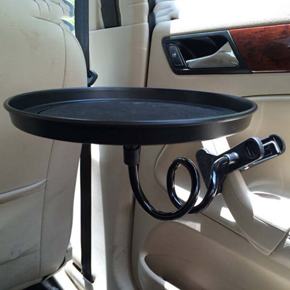 Black Car Food Tray Folding Dining Table Drink Holder Pallet Back Seat Water Cup In Drinks Holders From Automobiles Motorcycles On