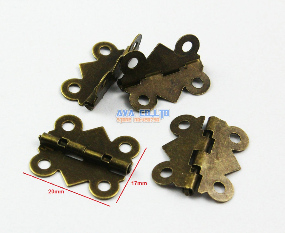 80 Pieces Antique Brass Jewelry Box Hinge Small Butterfly Hinge 90