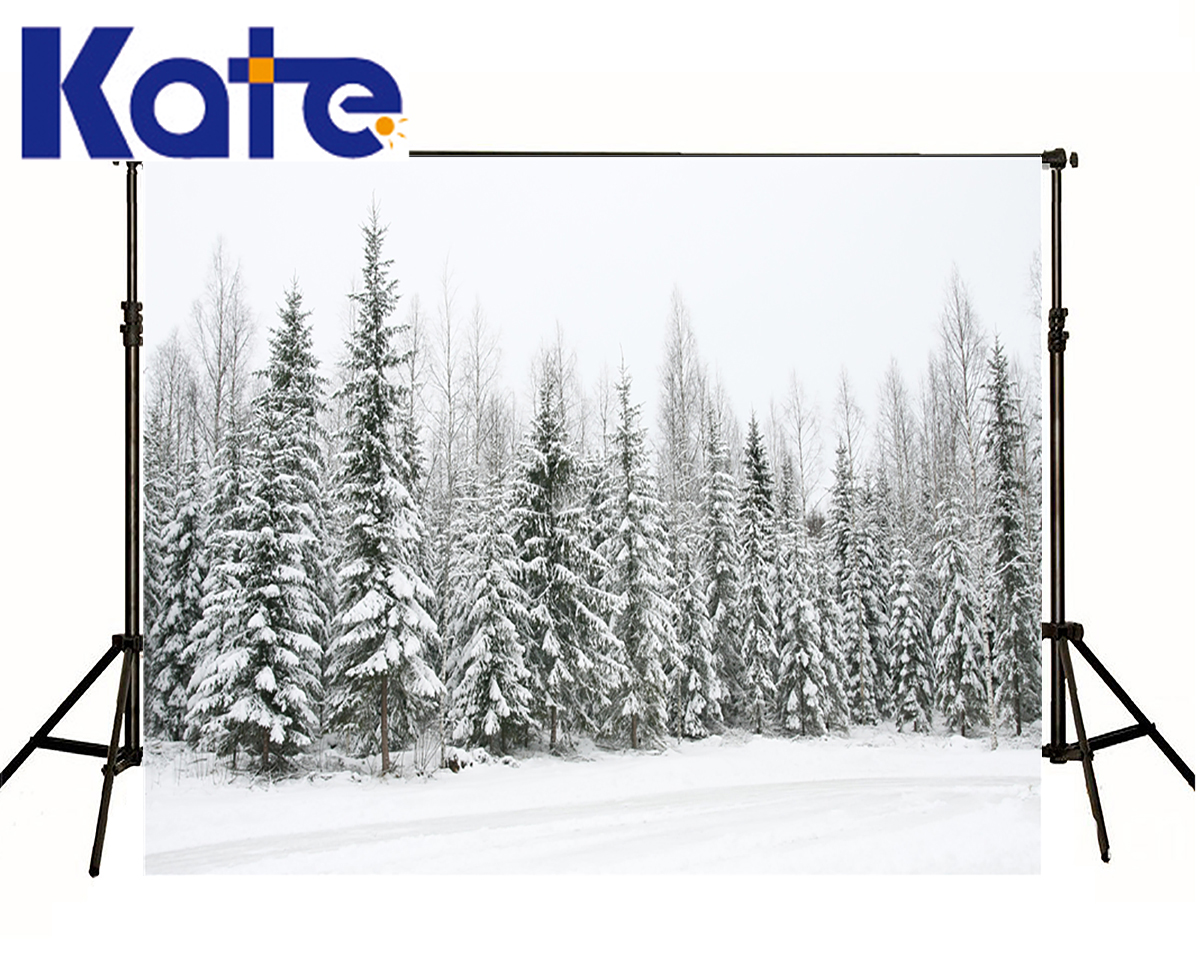 KATE Photo Backdrops Winter Snow Tree Forest  Scenery Backgrounds White Cold World Background Christmas Backdrop for Photo Shoot kate photo backdrops winter snow tree forest scenery backgrounds white cold world background christmas backdrop for photo shoot