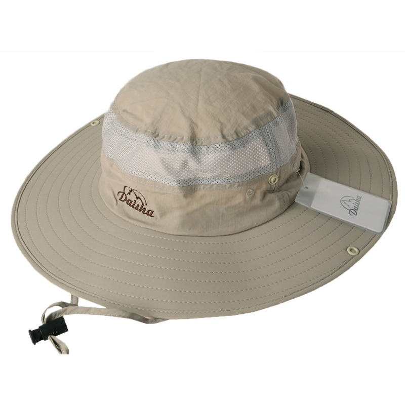 1d0534fe Bucket Hats Outdoor Summer Fishing Wide Brim Hat Women Sun hat climb  mountain Hat Hiking Sombrero Tourist cap