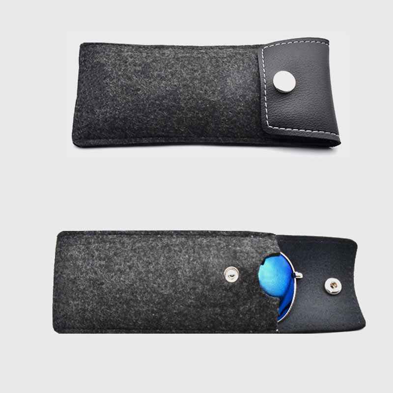 Portable Lightweight Sunglasses Bag Leather Wool Feltbags Eyeglass Cases Spectacle Protector Container Eyeglasses Storage Pouch (10)