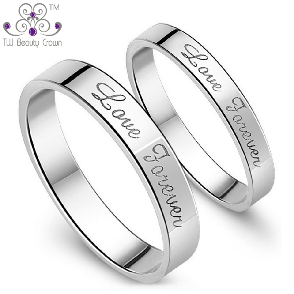 men plated size lover steel rings finger circle for love stainless mix forever product gold