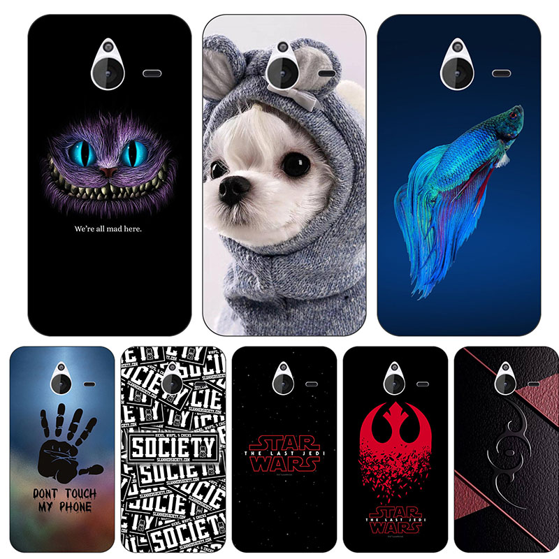 Cute Cartoon Case For Nokia Microsoft Lumia 640XL Cover Printing Drawing Cat Printed Phone Shell Capa Funda image