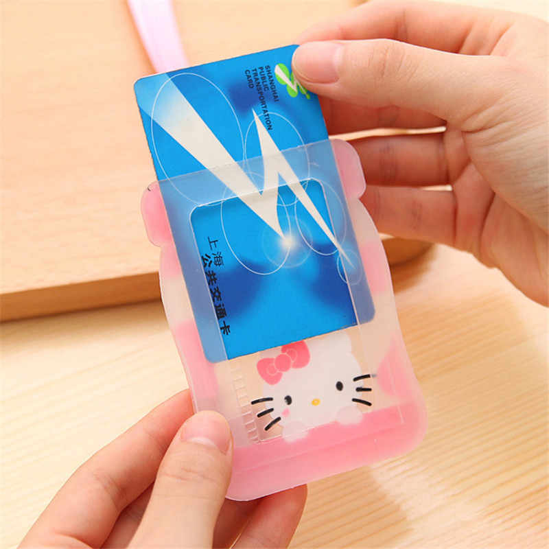 New zipper - free cartoon design identity card hanging passport bag character pendant card bag.