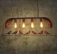 Creative personality retro bird pendant lights lamps Cafe Bar Iron restaurant one industrial wind decorative pendant lamp GY188
