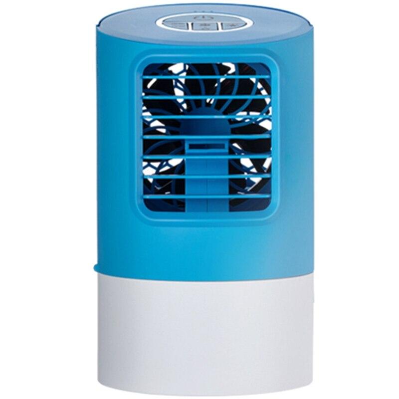 Ventilateur de climatisation Portable, Mini refroidisseur d'air évaporatif personnel, petit ventilateur de bureau, lampe à LED 7 couleurs,