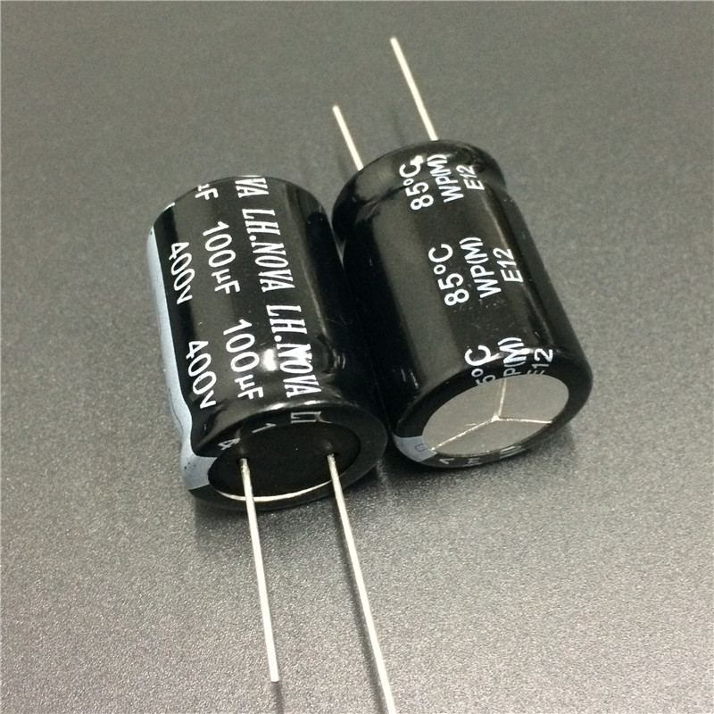 2pcs 100uF 400V LH.NOVA WP Series 22x30mm 400V100uF PSU Aluminum Electrolytic Capacitor
