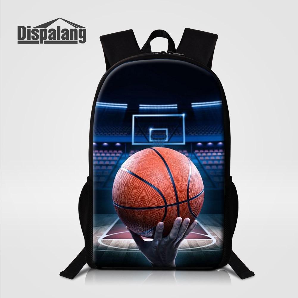 Dispalang 3D Printing Basketballs School Backpacks For Teenage Boys Mens Casual Travel Bags Mochila Masculina Schoolbags Rugtas