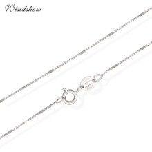 6 Lengths Real 925 Sterling Silver Slim Box Chain Necklace Womens Mens Kids 35cm/40cm/45cm/50cm/60cm/80cm Jewelry kolye collares