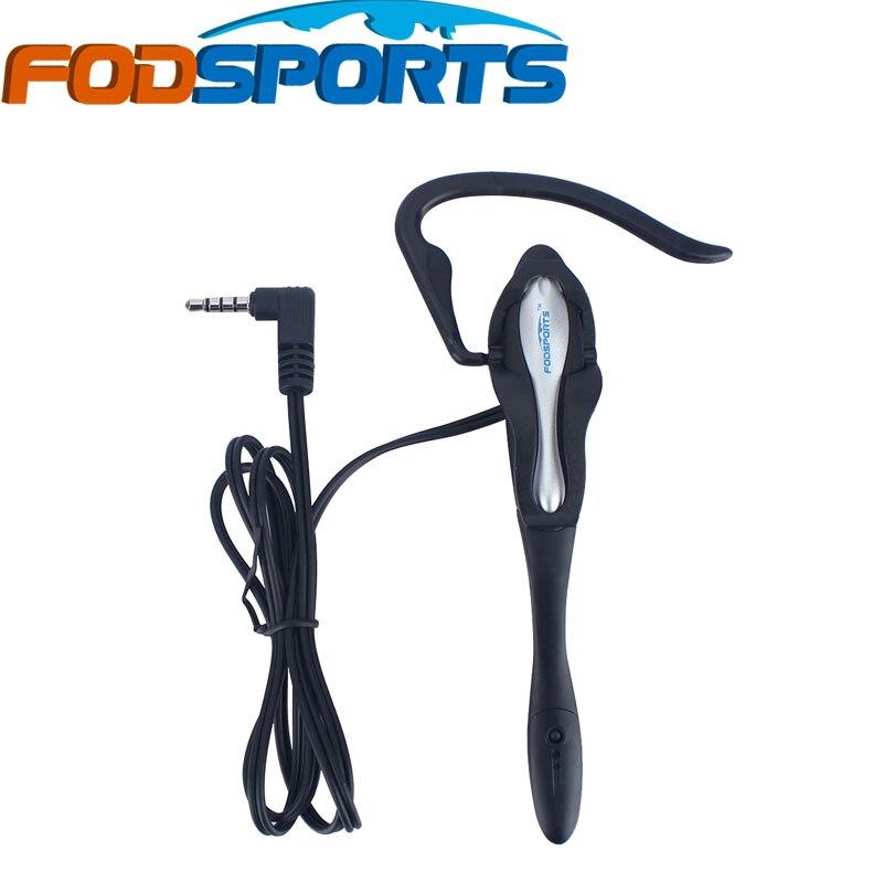 Fodsports V6 Earhook Earphone Headphone & Microphone Suit for V6 V4 Bluetooth Intercom Football Referee Judge Biker