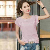 BOBOKATEER cuello redondo Camiseta mujer tops verano camisetas manga corta Camiseta algodón top mujer verano 2019 camiseta mujer