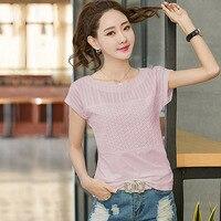BOBOKATEER O Neck T Shirt Women Tops Summer T Shirts Short Sleeve T Shirt Cotton Top