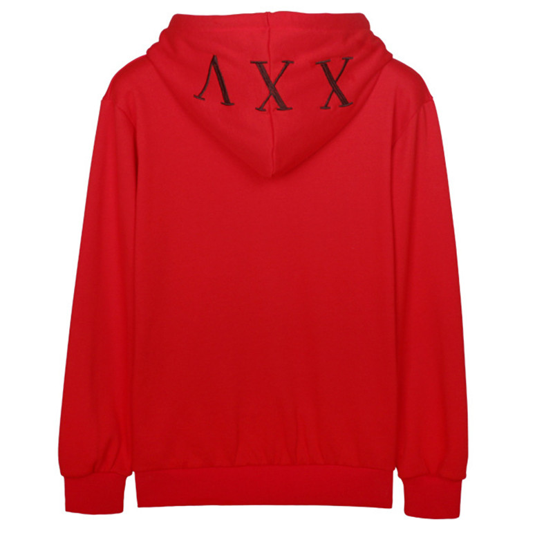 kpop EXO Luhan autumn winter plus velvet hooded men and women Letters red sweatshirt 2018 Korean loose Harajuku women hoodies