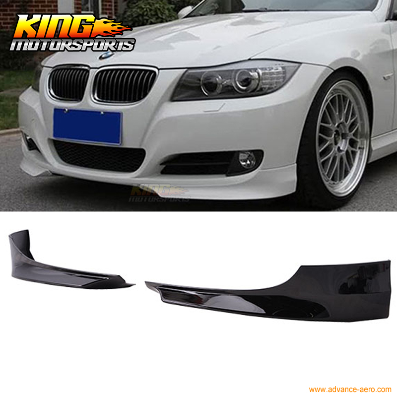 For 2009-2011 BMW 3 Series E90 OE Style Front Splitter Lip Painted Jet Black #668