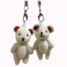 100pieces/lot 4cm mini plush Joint bear pendant decorations