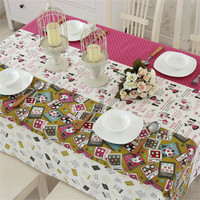 High Quality Home Party Wedding Decorative Elegant Square Cotton Table cloth