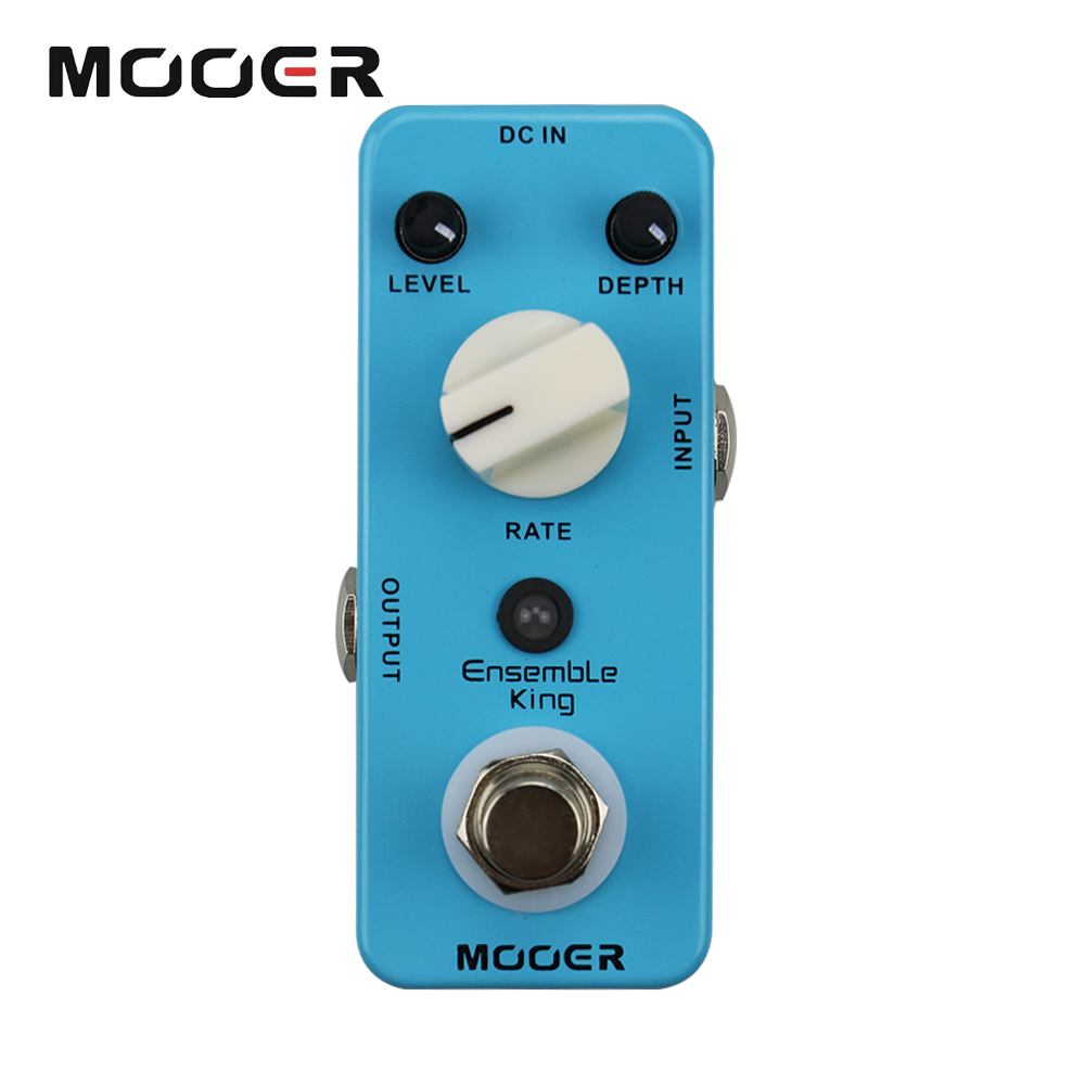 Mooer Mini Ensemble King Electric Guitar Effect Pedal True Bypass Pure Analog Chorus Sound mooer ensemble queen bass chorus effect pedal mini guitar effects true bypass with free connector and footswitch topper