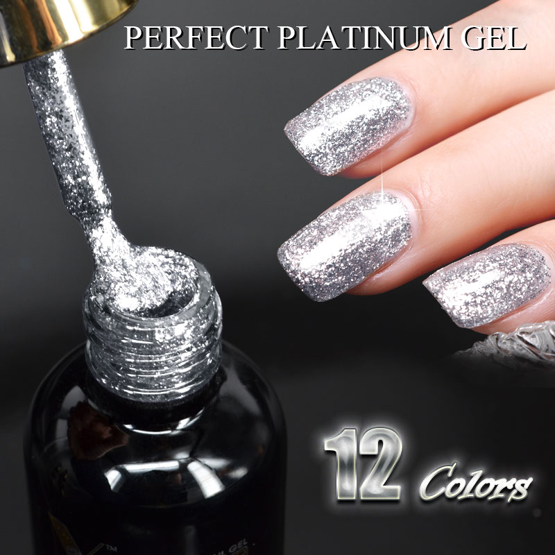New CANNI supply nail art Venalisa 12ml 12 color supper diamond ...