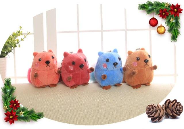 Super Kawaii GRANDE Cauda 8 CM Plush Toy Esquilo, misturar Cores Esquilo De Pelúcia Boneca de Brinquedo de Pelúcia-chaveiro Pingente de Presente Brinquedo de Pelúcia