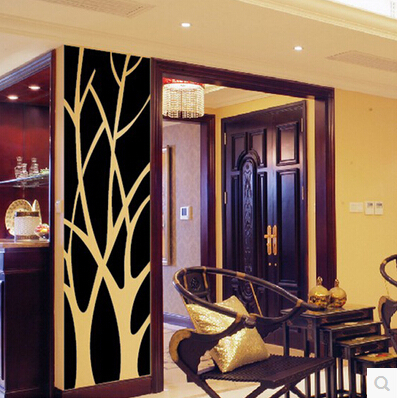 2015 3D New large tree mirro wall stickers Home Furnishing Acrylic mirror stickers TV background wall decorative stickers