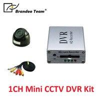 Brando команда DIY 1CH DVR комплект мини DVR с купольная камера с инфракрасной подсветкой cctv системы для магазин безопасность домашнего офиса