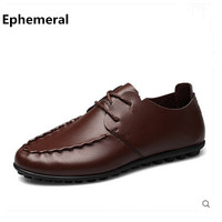 Male S Hot Sale Casual Shoes Online Larger Size 38 47 Round Toe LaceShoes Camel Free