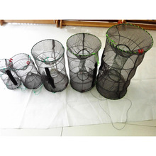 Hot Crayfish Crab Trap Net Shrimp Lobster Cage Collapsible Portable Fishing Accessories DO2